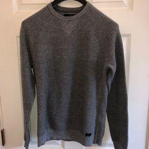 Lucky Brand Cross Stitch Sweater Heather Grey
